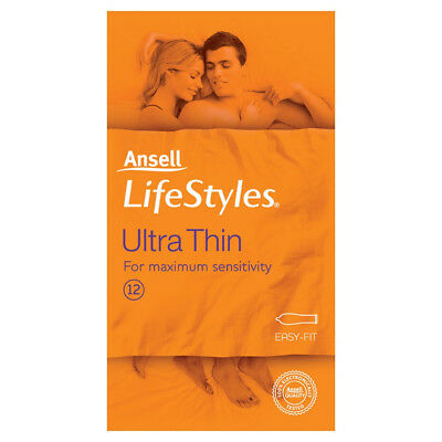 NEW Ansell Lifestyle Condom Ultra Thin 12 pack
