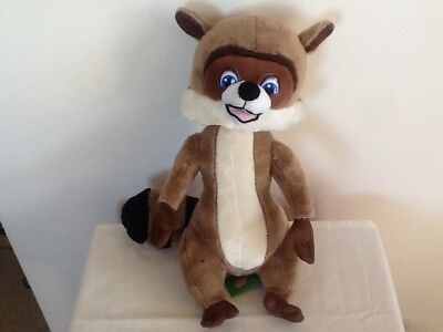 """Dreamworks 2006 Over the Hedge R J Racoo Plush Soft Toy 15"""" Excellent Condition"""