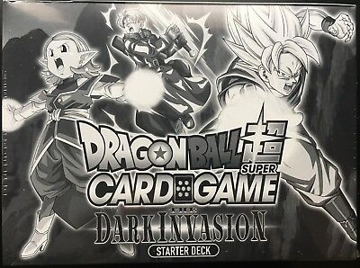 LOT BOX DRAGON BALL SUPER CARD GAME 6X STARTER DECK dark invasion