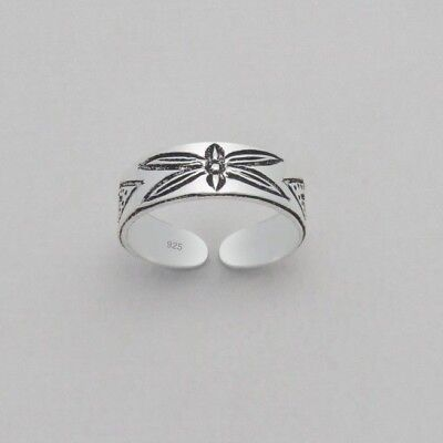 925 Sterling Silver Dragonfly Toe Ring in Box