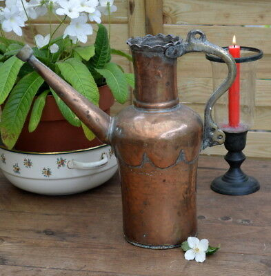 """Antique Islamic Persian 14"""" Copper Water Jug Pot watering can pourer"""