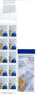 1998  Canada SC# BK211a Christmas Angels perforation 13X13 - booklet of 10 M-NH