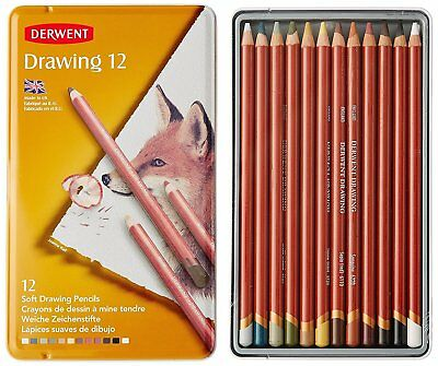 Derwent Coloured Drawing Pencils, Set of 12, Professional refL52