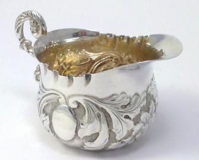 Victorian Silver Cream Jug with Chased Decoration – 1892 by George Unite (34g)