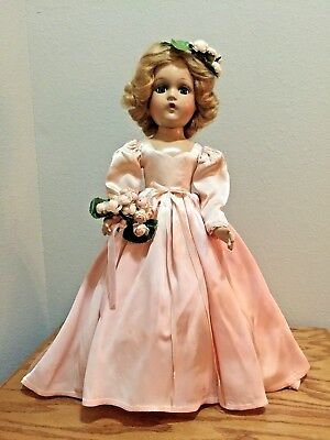 VINTAGE 1940 Madame Alexander Wendy Face Composition Bridesmaid Doll 18""