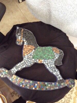 Beautiful Stained Glass Rocking Horse Very Unique!                         A0135