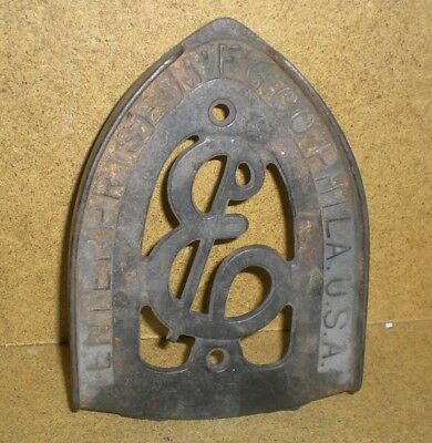Vintage Cast Sad Iron Trivet Stand Rest Enterprise Mfg Co Philadelphia U.S.A.