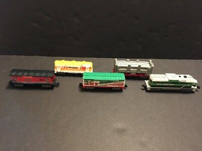 Jakks Pacific Power Trains Freight Engine 5 Five Cars From Auto Loader City