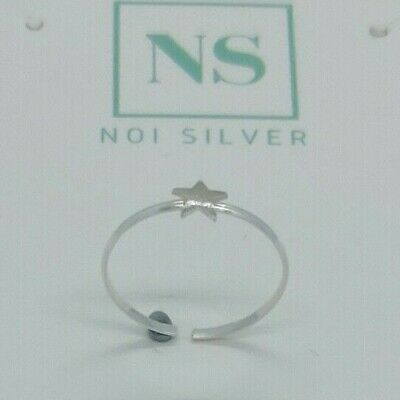 925 Sterling Silver Plain Star Toe Ring in Box
