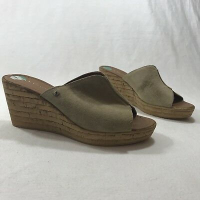 38d8577dbeeb A. Giannetti Sz 8 M Women s Brown Leather Wedge Sandals