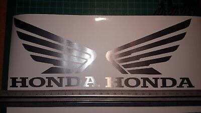 FOR Honda wing TANK decal SILVER CHROME stickers left&right CBR 1000 125 600 CB
