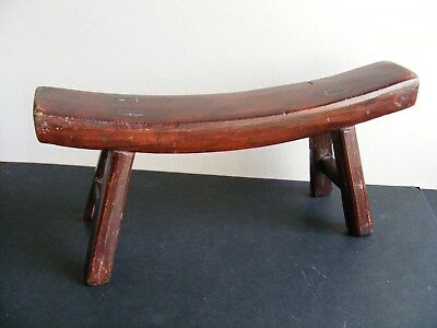 Chinese Antique Hardwood Neck Pillow, 19thC. Possibly Shanxi Province, China
