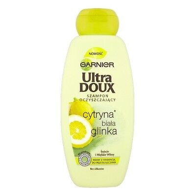 Pl/ Garnier ULTRA DOUX SHAMPOO with white Clay For Oily Hair/ Purifying Scalp