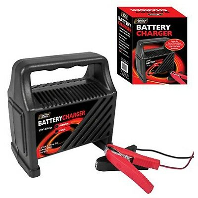 NEW 12V 4Amp Battery booster Charger Car van 12 V motorcycle 6A trickle charge