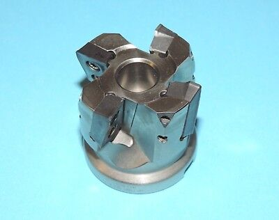 "ISCAR HELIPLUS 2"" Indexable Face Mill w/ Inserts (HP F90AT D2.0–4-.75-22)"
