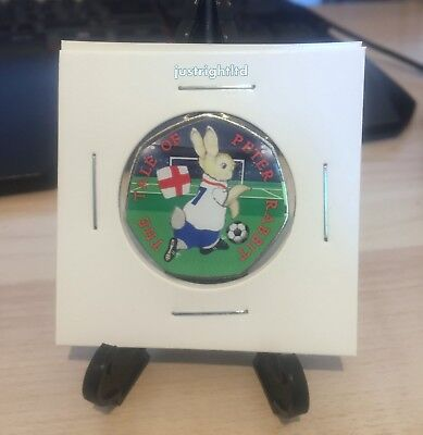 Peter rabbit world cup 2018,  2017 coin with colour sticker high quality