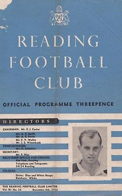 * 1956/57 - READING v BEDFORD TOWN - FA CUP (8th December 1956) *