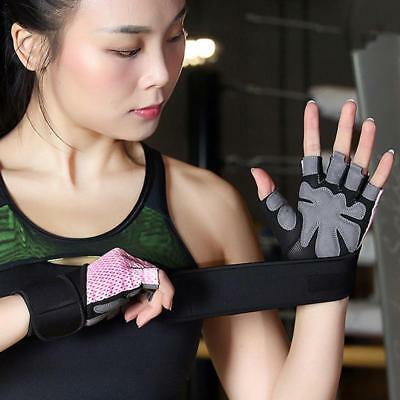 Men Women Sports Fitness Gloves Weight Lifting Gym Workout Training Wrist Wrap