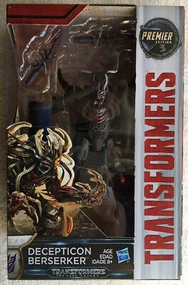 Transformers The Last Knight DECEPTICON BERSERKER Premier Edition New/Sealed