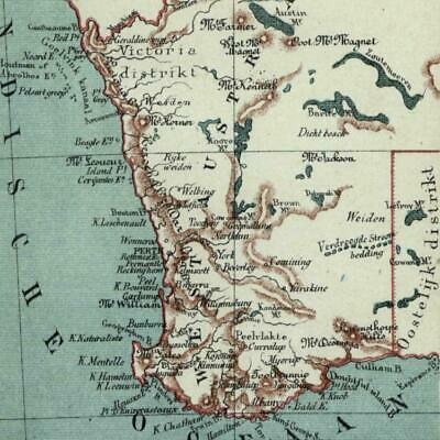West Australia Indian Ocean 1882 charming small Dutch old map