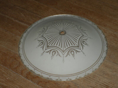 Ceiling Light Cover Round Frosted Mid Century