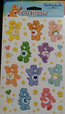 Vintage Care Bears Stickers Stickety Doo Da Scrapbooking Stars 80's Bears NOS