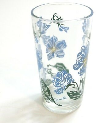 "Vintage Boscul Viola Peanut Butter Glass Name On Bottom 5"" Tumbler Blue / Yellow"