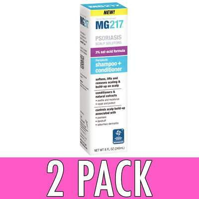 MG217 Psoriasis Scalp Solutions, Shampoo + Conditioner, 8 oz, 2 Pack