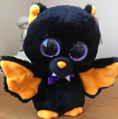 *MINT CONDITION* TY Beanie Boo Bat-Baron *WITH TAG* RARE Plush toy **RETIRED**