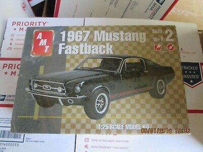 AMT 1967 Ford Mustang Fastback 1/25 scale Kit # 31635 Factory sealed