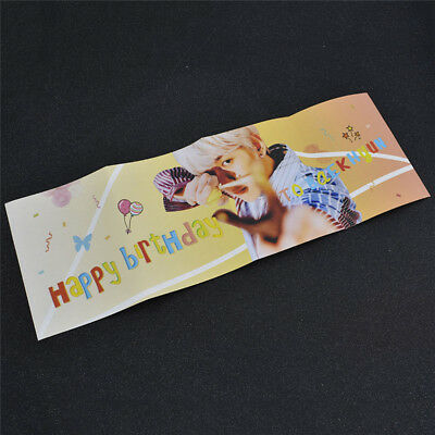 Happy Birthday EXO Baekhyun Banner Party Supply Kpop Star Fans Collection Fabric