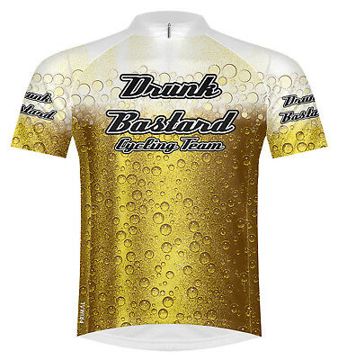 Primal Wear Drunk Bastard Beer Cycling Jersey Mens short sleeve bicycle +  socks 0332b7bc2