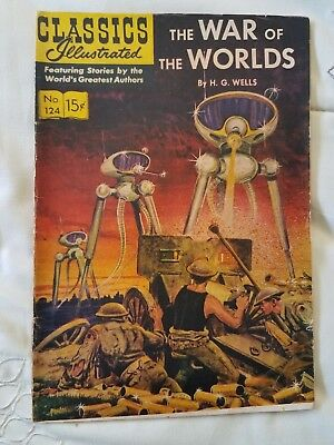War of the Worlds: CLASSICS ILLUSTRATED #124 HRN 141 (3rd printing) VG