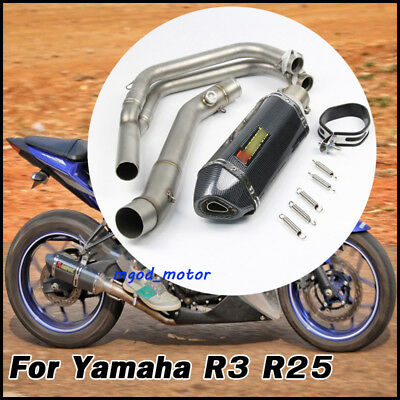 R25 R3 Full Exhaust System Front Pipe Exhaust Muffler Pipe For Yamaha YZF R3