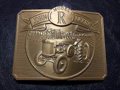 John Deere Model R Tractor Gold Belt Buckle 1990 Limited Edition #5795/6000