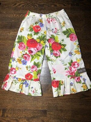Matilda Jane Floral Pant With Ruffle Size 8 NWT