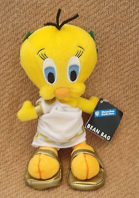 "TWEETY BIRD PLUSH DOLL, 7"" Roman Tweety, Warner Bros Store with Tag, Bean Bag"