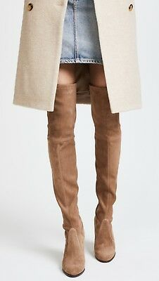 a3ada7d53f4 New  798 Stuart Weitzman Hiline Over the Knee Boot Nutmeg Light Brown Suede  7M