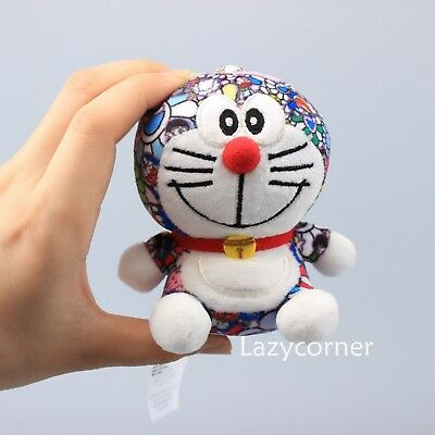 2018 UNIQLO DORAEMON X Takashi Murakami Plush Keychain Doll Toy 4'' Limited