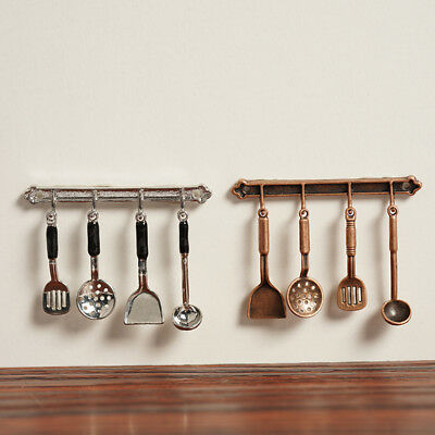 5PCS 1/12 Dollhouse Cooking Hanging Utensils Tool For Dollhouse Toys Kitchen ~.