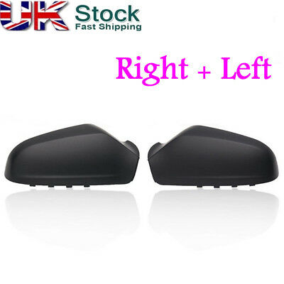 Pair Left & Right Side Wing Door Mirror Cover For VAUXHALL ASTRA H MK5 2004-2009