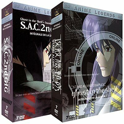 Ghost in the Shell STAND ALONE COMPLEX Season 1 + 2 Complete DVDBOX French versi