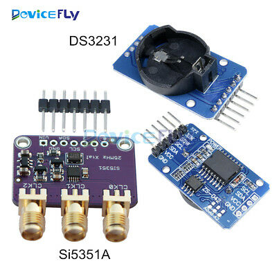 Si5351A I2C 25MHZ Clock Generator 8KHz to 160MHz for Arduino+DS3231 Time Clock