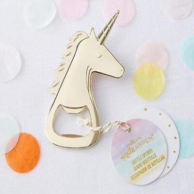 Gold Unicorn Alloy Bottle Openers Favors Wedding Birthday Party Travel Souvenirs