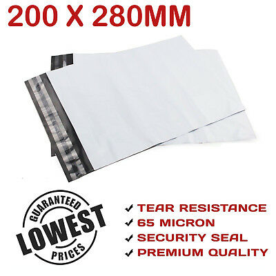 200x280mm Poly Mailer Plastic Courier Bag Self Sealing Shipping Mailing Satchel