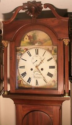 "Antique Mahogany Automation Swan ""dowlais "" Longcase / Grandfather Clock"
