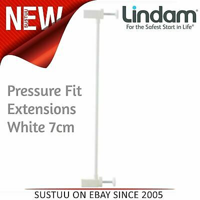 Lindam Pressure Fit Extensions│Toddler Kid's Safety Gate's Accessory│White│7cm│