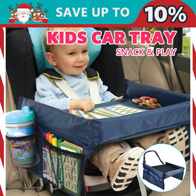 Baby Safety Travel Tray Drawing Board Table Kids Car Seat Snack Waterproof