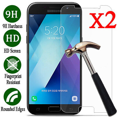 2X Tempered Glass Screen Protector For Samsung Galaxy A3 A5 A7 2017 / A6 A8 2018