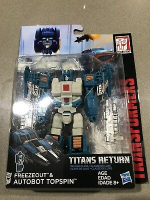 Transformers Generations Titans Return Deluxe Class Freezeout & Autobot Top Spin